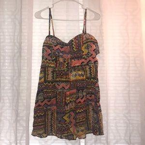 Flowing mini dress